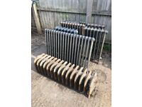 Cast Radiators - 2 matching - 10 in total - various sizes