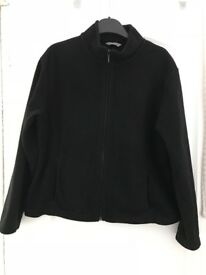 Womans black M&S fleece/jacket Size 18