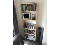 Light wood colour bookshelf