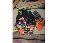 Bundle of nerf accessories