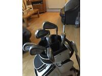 Callaway steelhead irons, Taylor made driver, Nike cart bag & balls