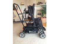 Joovy Caboose Ultralight Stand on Double Pushchair