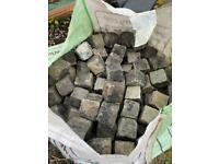 4x4x4 Old Original Granite Cobble Setts / Stones
