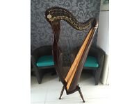 HARP FOR SALE - 2nd hand Kerry Irish Harp -