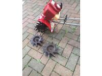 Petrol Mantis includes tiller tines & aerator blades in good working order