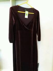 NEW -size 12 M&S Purple Velvet Dress