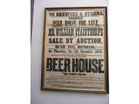 Framed Poster Beer house for sale