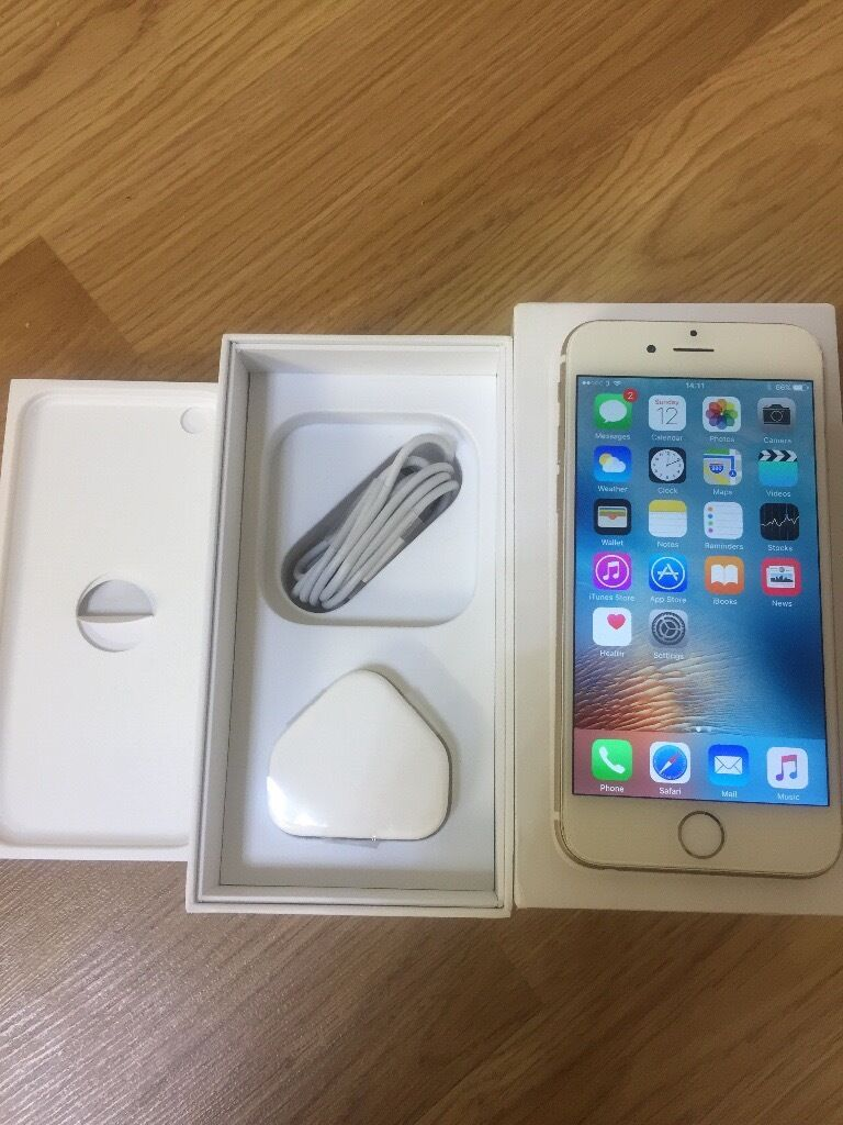 apple iphone 6 gold box. apple iphone 6 64gb wite and gold unlocked come with original box charger iphone b