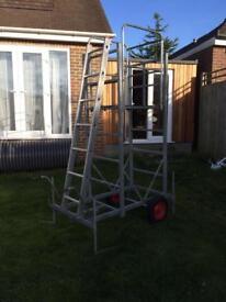 Henchman wheeled garden/home platform tower