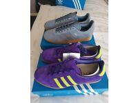 Adidas purple trimm star and adidas gazelle size 9