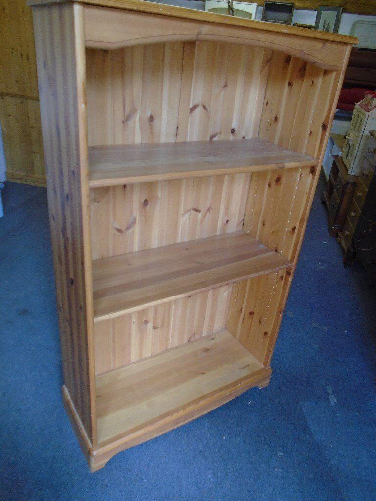 Pine bookcase, shelves