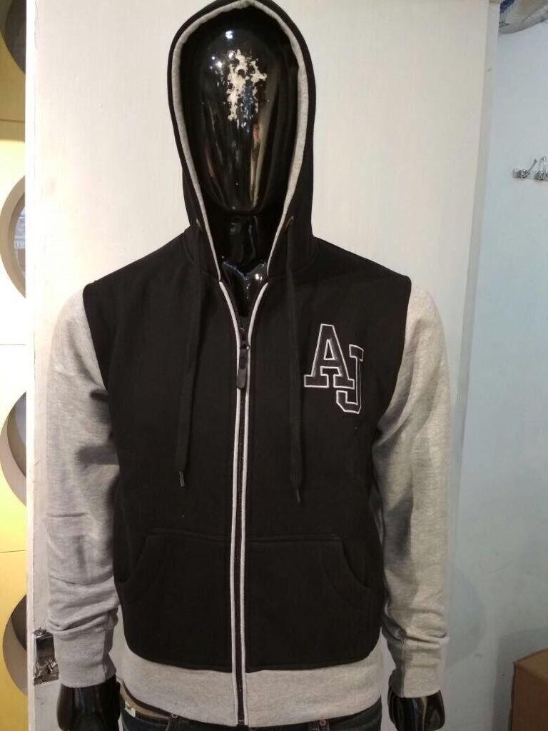 AJ Hoodie Zipper size-Small To 2XL colour Black/Grey