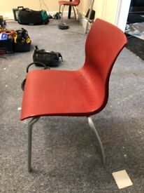 66 red cafe/restaurant chairs