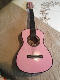 Pink guitar from toys r us