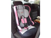Nearly new car seat that has been used a few occasions. Fits all cars.