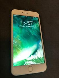 iPhone 6 Plus white and silver 128Gb in mint condition