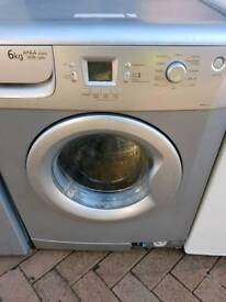 Silver Beko 6 kg washing machine been serviced free delivery and connect it