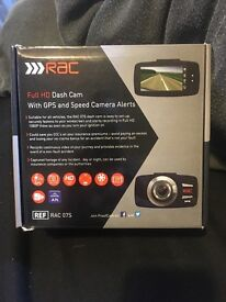 RAC 07S Dash cam with gps and speed camera alerts