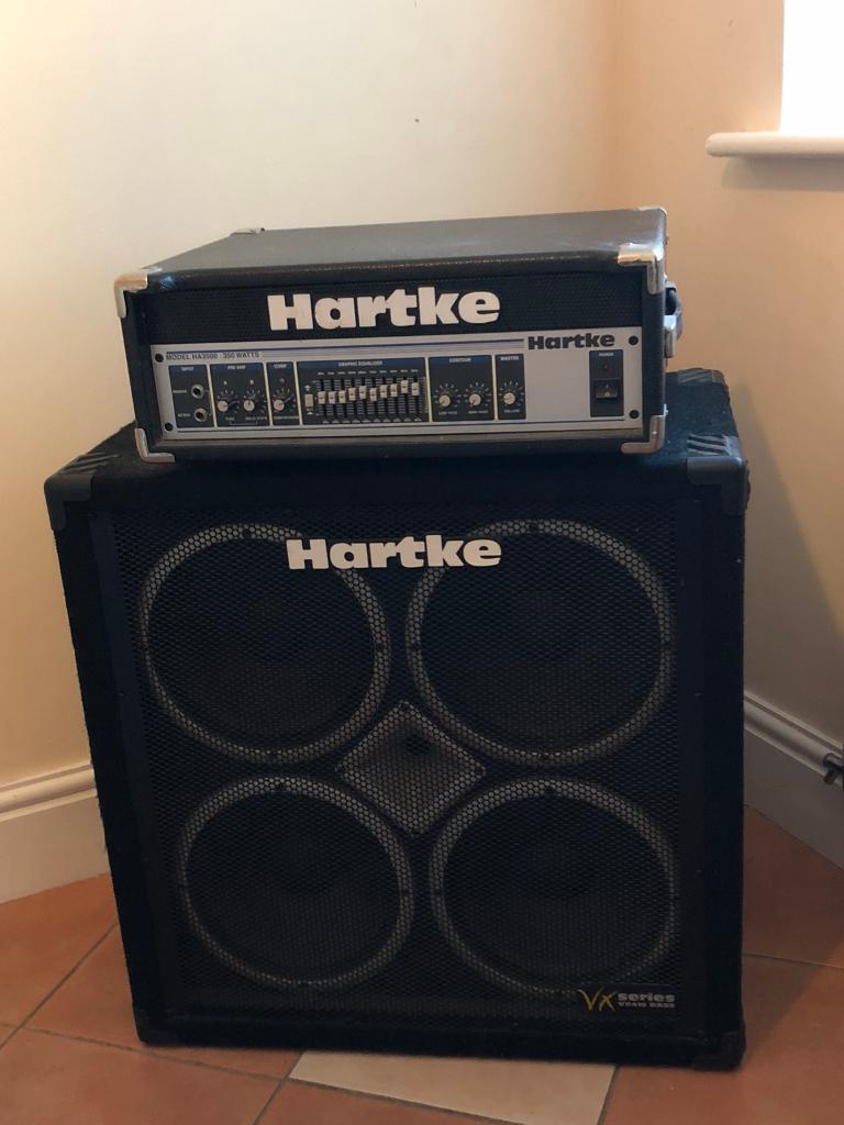 Hartke bass amplifier and speaker