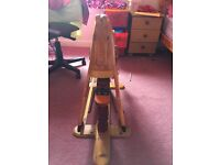 Wooden homemade rocking horse £75 Ono
