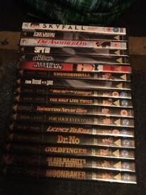 James Bond dvds
