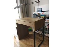 IKEA Computer Home office DESK with an electric desk lamp