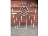 Metal gate and railings
