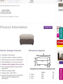Garrick storage footstool for sale