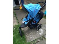 Phil and teds double pushchair with cacoon