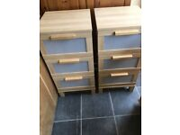 IKEA 3 DRAWER CHEST OF DRAWERS VERY GOOD CONDITION , MEASURES 16 INCHES WIDE X 16 DEEP X 32
