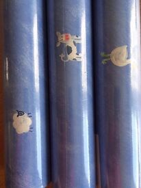 3 rolls of designer nursery / kids room wallpaper