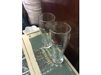 24 x Heineken toughened pint beer glasses