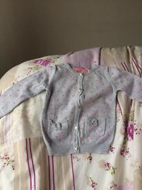 Girls cardigan size 18-24 months