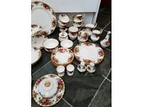 42 piece Royal Albert tea set