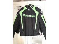 Kawasaki motorbike jacket LARGE brand new