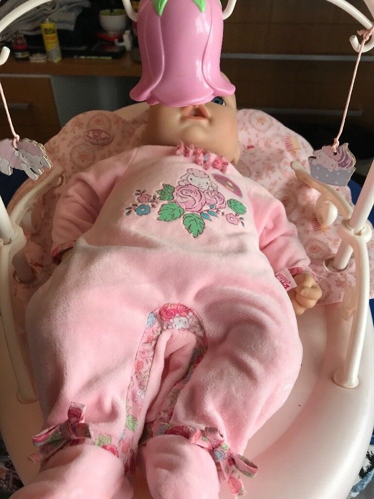 Baby Annabelle weeing doll and rocker