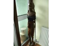 beautiful free standing solid african masai,crafted on one piece of african wood,£495,stanmore,middx