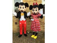 Minnie and mickey mascot. Worn once