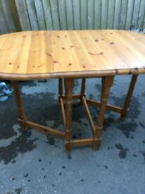 Pine Gate Leg Kitchen Table - Used