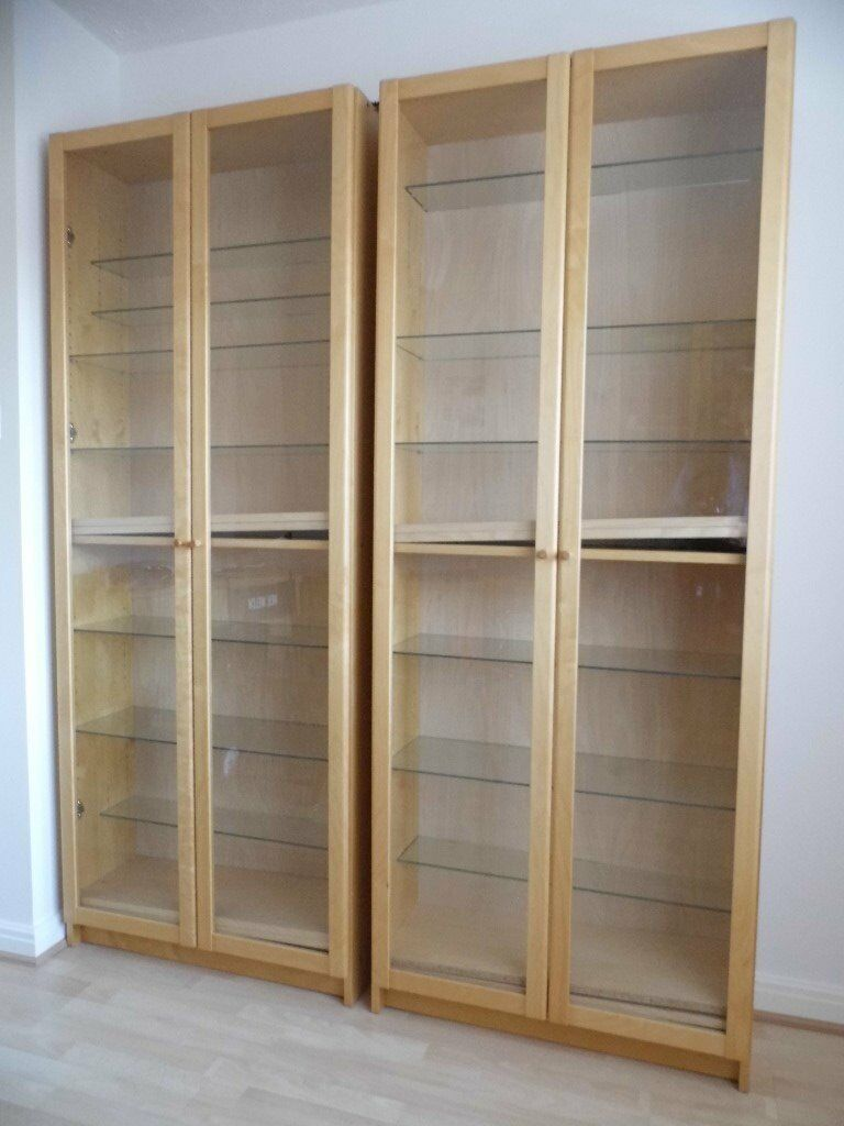 Ikea Billy Bookcase Display Cabinet With Glass Doors 2 Off In Borrowash Derbyshire Gumtree