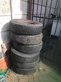 5. X wheels and tyres 185 x r14 C off ldv