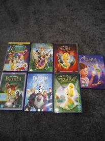 7 Walt Disney DVDs Frozen, Bambi, Tinkerbell