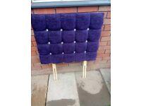 Purple Chenille Single Headboard