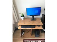 Argos Home Computer Office Desk - Beech Effect