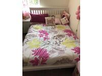 White framed double bed