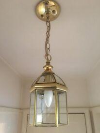 Polished Brass Lantern Light
