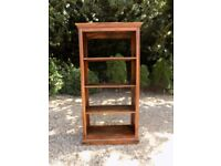 Rustic Solid Large Tall Sheesham Backless Open Shelved Bookcase