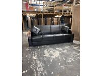 New brand turkish leather sofa bed 3 seater