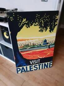 Visit Palestine Poster (canvas on wood frame)