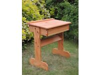 Children's wooden desk - great for up-cycling project - £5